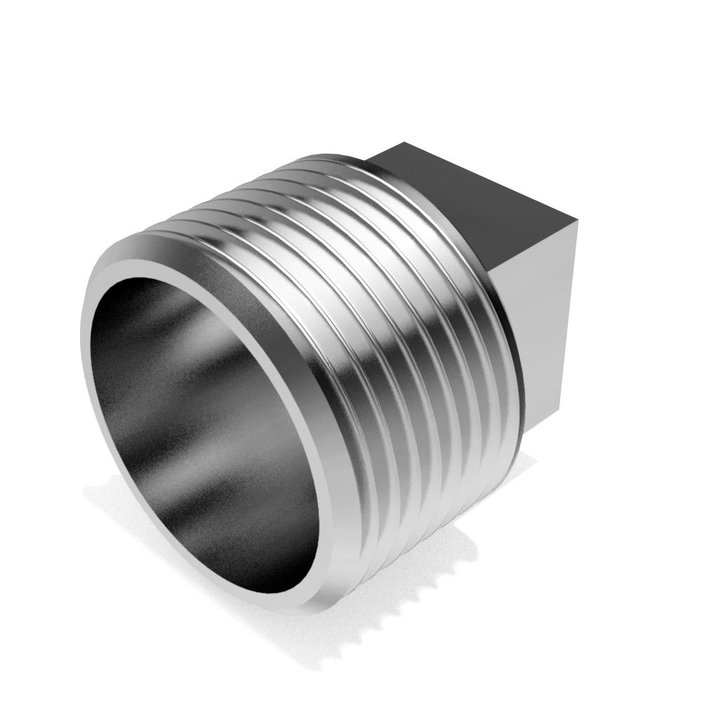 Square head plugs BSP thread - FREE 3D CAD models