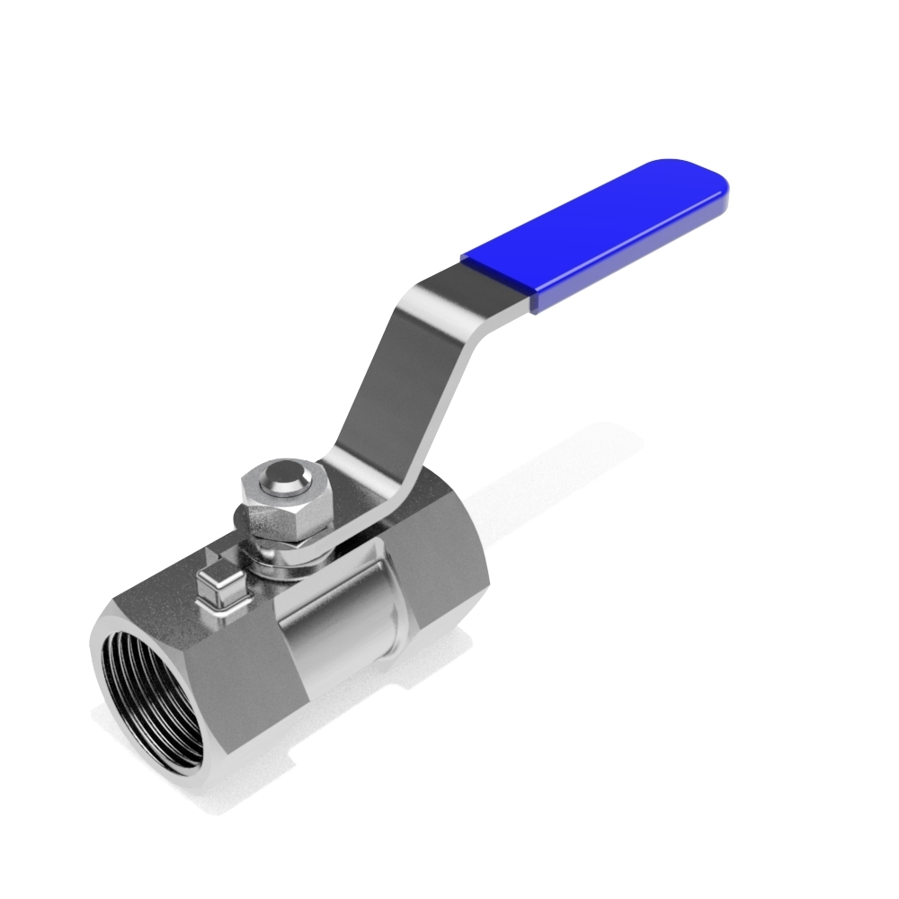 One piece ball valves - BSP female - FREE 3D CAD models
