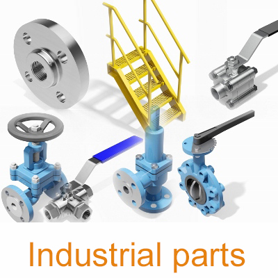 Industrial-valves-fittings-CAD-library