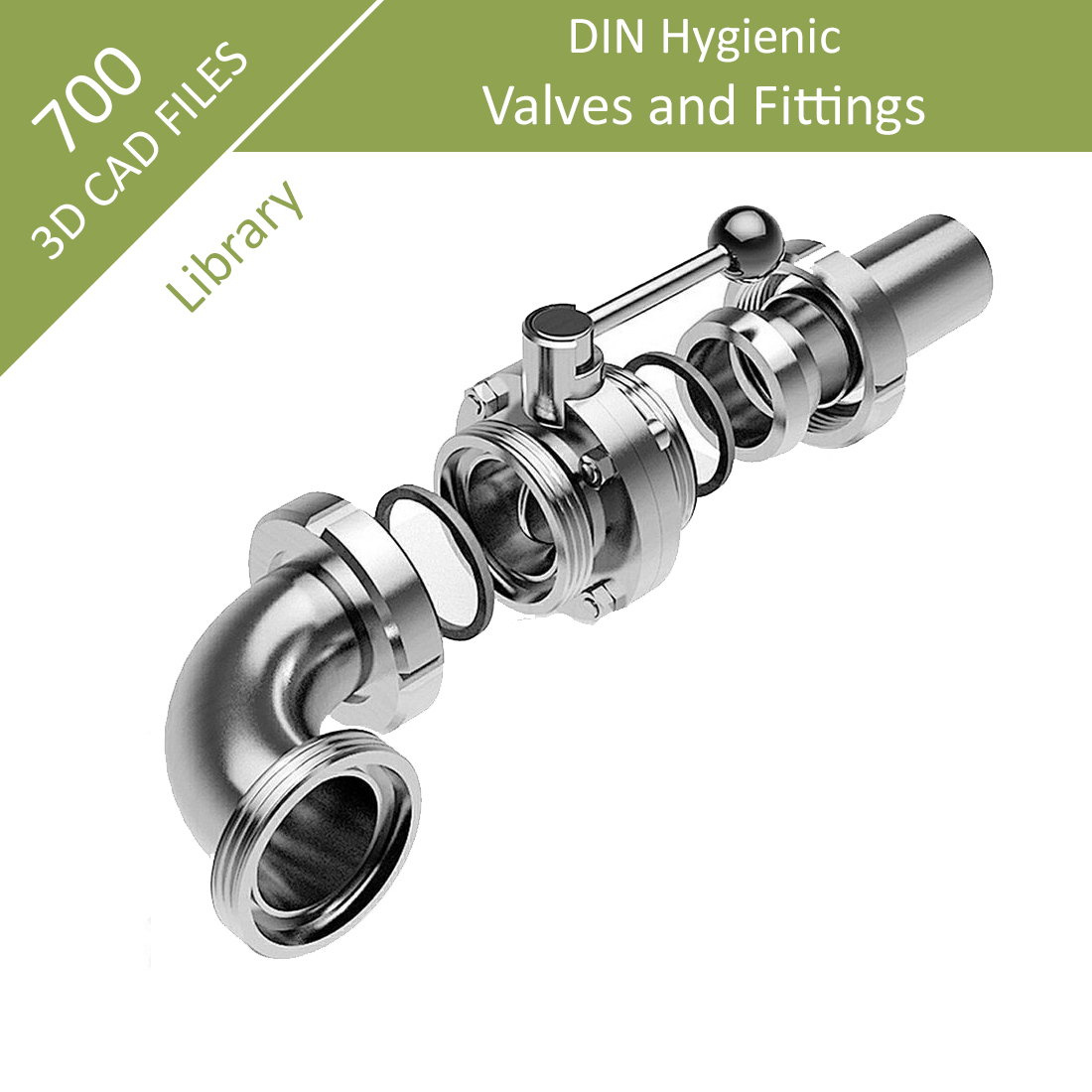 DIN_Food_Pharma_fittings_valves_3D_CAD_library_file_download_-_1B